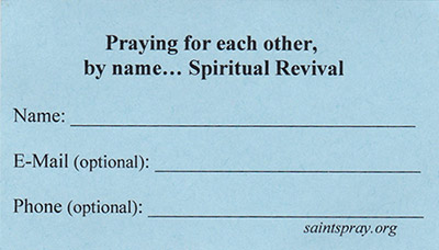 SaintsPray.org Card